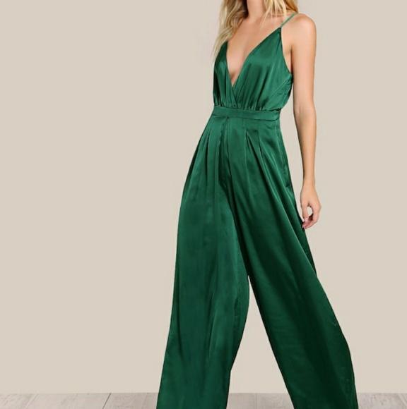 Shein Emerald Green Jumpsuit
